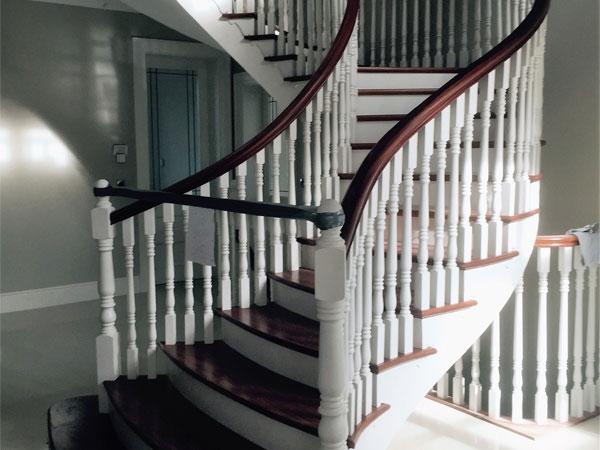 hand painted stairway