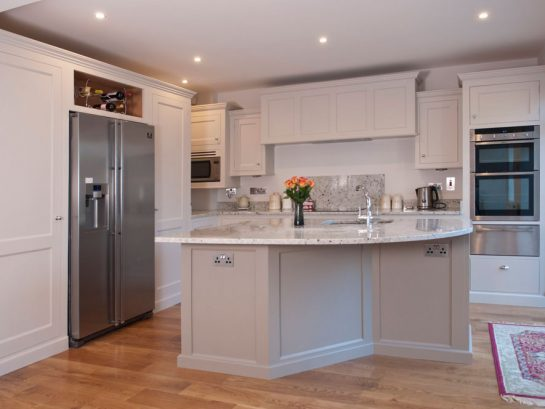 Hand-painted bespoke kitchen and shelving