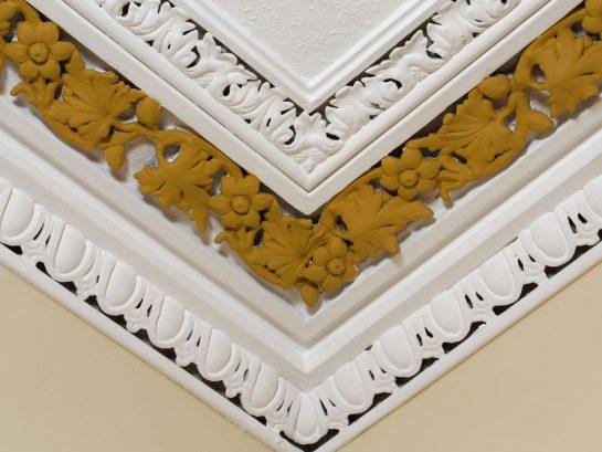 Hand-painted cornice detail