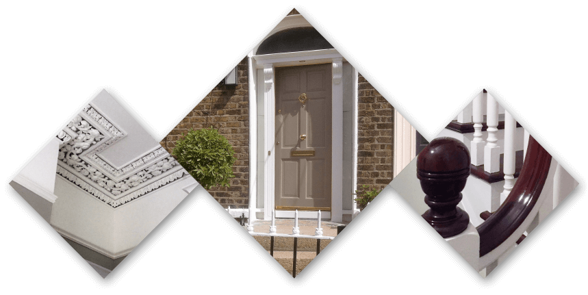 other services, details of cornicing, stairs and doors