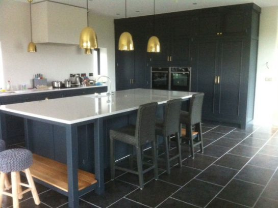 Hand-painted kitchen cabinets