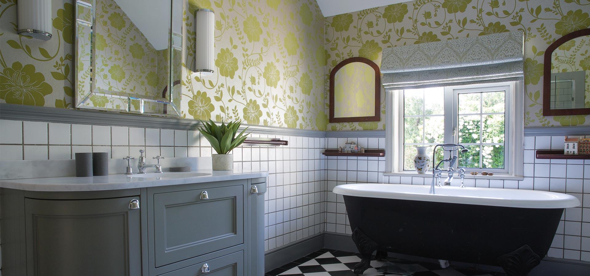 decorated bathroom