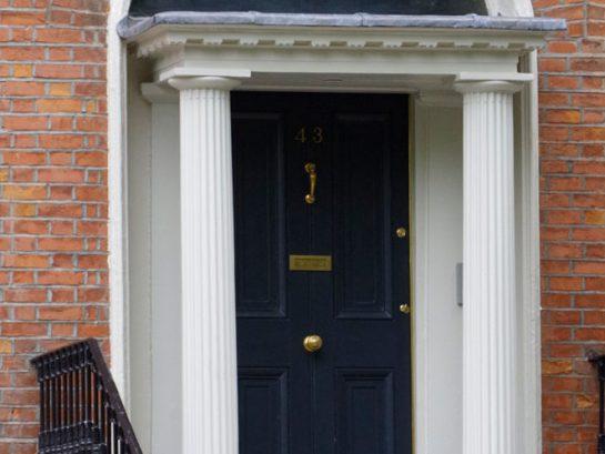 Hand-painted exterior door