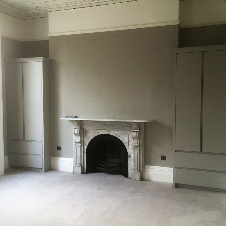Exterior Painting and Railings/Bannister restoration, Interior Painting throughout, including hand-painted wardrobes.