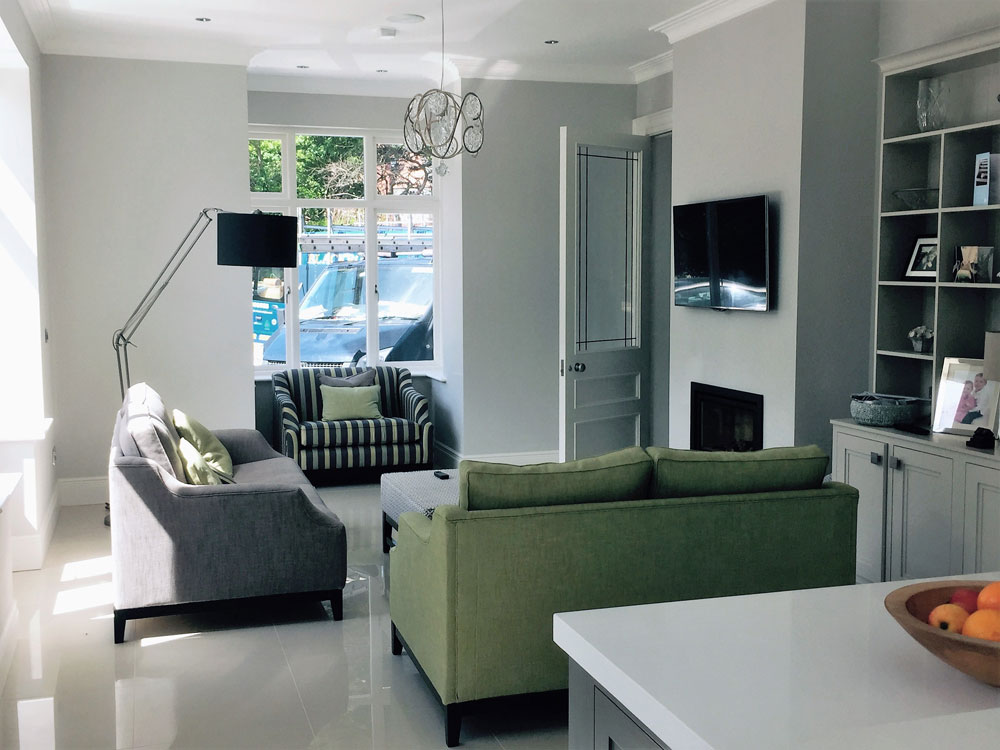 Exterior & Interior Painting & Decorating throughout, including hand-painted kitchen and woodwork.