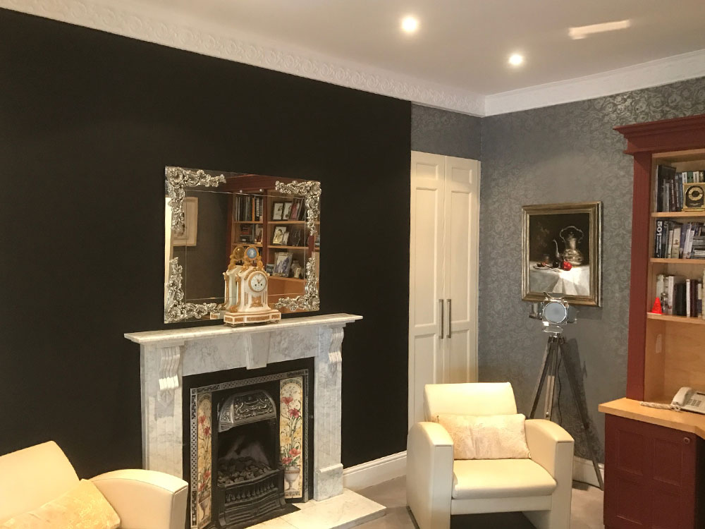 Exterior painting and Interior wallpapering throughout.